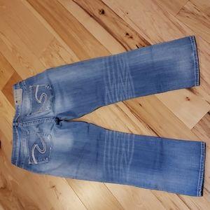 Silver Suki High Capri Jeans